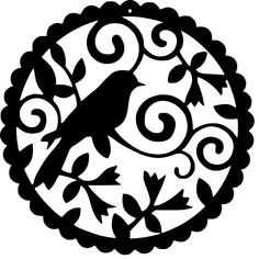 Elegant steel bird artwork with a nice floral border. One of our more popular designs we have in our home decor collection. All of our artwork is made from steel or aluminum a. Bird Artwork, Metal Artwork, Stencil Patterns, Stencil Designs, Art Patterns, Stencils, Kirigami, 3d Laser, Scroll Saw Patterns