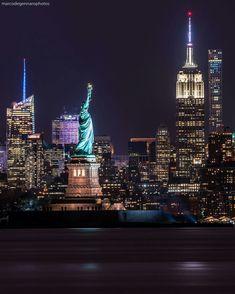 Midtown Manhattan at night by Marco DeGennaro Photography