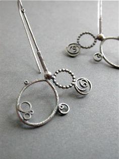 asimmetria orecchini semplici penzolare lungo metallo funky hip artigiano moderna istruzione tagliente gioielli in argento
