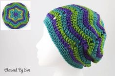 Free pattern, Flower Ripple Slouch Hat, from the Country Willow