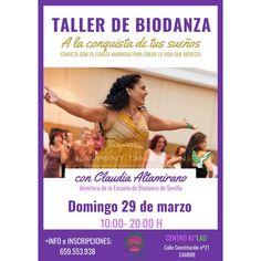 """TALLER DE BIODANZA: """"A LA CONQUISTA DE TUS SUEÑOS"""" Claudia Altamirano, Directora da Escola de Biodanza de Sevilla, estará en Galicia o próximo 29 de marzo para convidarnos a conquistar os nosos soños a través dun fermoso taller de todo un día que se celebrará no Centro Ki*Lau, en Cambre. Convocámoste a danzar a vida e a atoparnos nun círculo afectivo para desplegar xunt@s a forza e o coraxe para alcanzar os teus anhelos. + Información e reservas: 659553938 Agradecemos que compartas a…"""