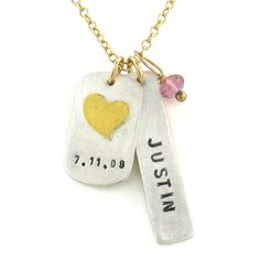 Isabelle Grace Jewelry | Anniversary Tag Necklace