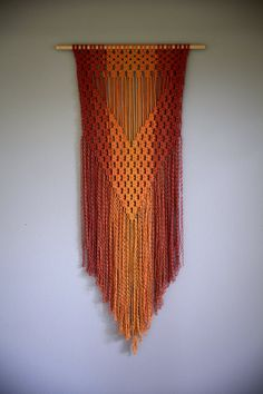 Macrame Wall Hanging Hand Dyed Cotton Rope in by BermudaDream