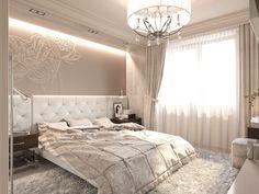Спальная комната для молодой девушки выполненная в модном, современном стиле Romantic Glam.