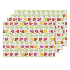 Lamona Cloth Placemats featuring Whimsical_flowers_early_autumn by colour_angel | Roostery Home Decor #flowers #earlyautumn #floral #flowers #printondemand #spoonflower #homefurnishings #decor #ideas