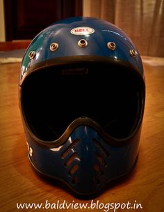 Bell Moto 3 Vintage Helmet Blue