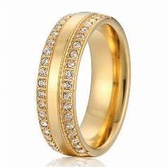 [ $28 OFF ] Wholesale Titanium Steel Jewelry Wedding Band For Men And Women 18K Gold Plated Rings