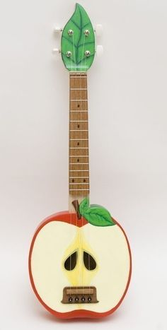 cool! apple ukelele by celentano woodworks (esty)
