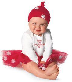 1st Christmas outfit! Tutu cute!
