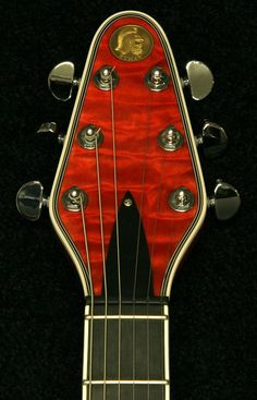 Abstract Red Special Guitar - I know this is a photograph, but it could make an awesome art quilt for a guitar enthusiast! this gets my brain going .