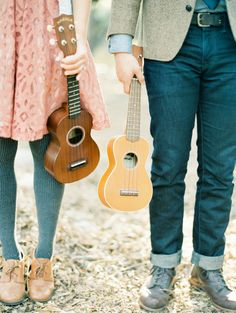 Ukelele engagement session - bring a bit of your own flavor. Pasadena, CA. Carolly Photography www.carollyphoto.com
