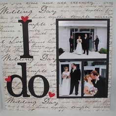 Wedding scrapbook... something I will be doing this summer since my future MIL brought us a huge wedding scrap booking gift basket!