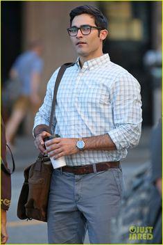 Tyler Hoechlin Debuts Clark Kent Look on 'Supergirl' Set!: Photo…