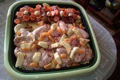 Otthonom Ízei: Hot Platben sütött vegyes finomságok Potato Salad, Potatoes, Chicken, Meat, Ethnic Recipes, Food, Eten, Potato, Meals