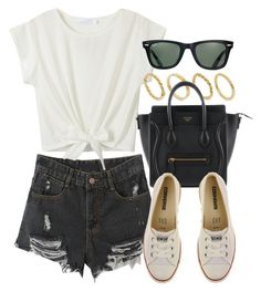 """Style  #10550"" by vany-alvarado ❤ liked on Polyvore featuring Made, Converse and Ray-Ban"