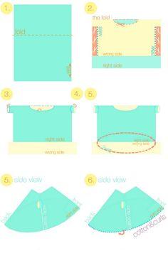 Supplies: yard of lightweight flowy fabric – like polyester chiffon sewing machine matching thread pins fabric marker (optional) scissors