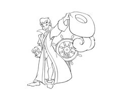 Captain Peter Pan Tinkerbell, Disney Coloring Pages