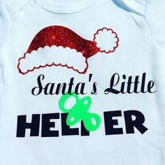 Hey, I found this really awesome Etsy listing at https://www.etsy.com/listing/488426417/christmas-onesie-santas-little-helper