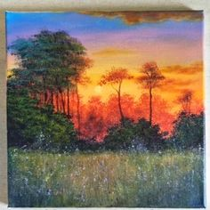 What is Your Painting Style? How do you find your own painting style? What is your painting style? Canvas Painting Tutorials, Diy Canvas Art, Diy Painting, Simple Acrylic Paintings, Acrylic Painting Canvas, Landscape Art, Landscape Paintings, Art Et Nature, Art Sur Toile