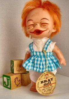 weird.  1960's Brat Doll