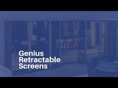 Customizable Retractable Screens For Your Home! At Genius Retractable Screens our passion is delivering products built to protect your family. Our screens sa. Retractable Screens, Patio Door Coverings, Patio Doors, Porch, Garage, Windows, Curtains, Gallery, Youtube