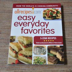 Allrecipes com Cook Book Easy Everyday Favorites 2010 5 Star Over 250 Recipes