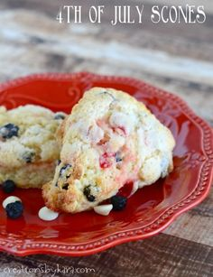 Fouth of July Ideas| Fourth of July Scones Recipe