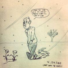 #Sobieniak #cartoon #doodle #snow #flowers #April