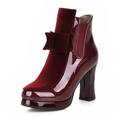 Cheap boots platform, Buy Quality calf boots directly from China mid calf boots Suppliers: KemeKiss Size Women Patent Leather High Heel Mid Calf Boots Platform Sexy Bowtie Warm Winter Boot Footwear Shoes Heeled Boots, Shoe Boots, Shoes Heels, Footwear Shoes, Ankle Boots, Aldo Shoes, Womens High Heel Boots, Boots Women, Warm Winter Boots