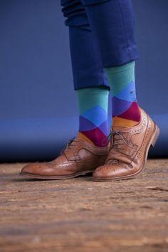 Burlington Clyde Cotton All Over Blend Argyle Socks £12.00