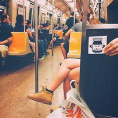 Cutella vandalizando de mentirinha os metrôs nova yorquinos.