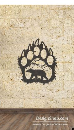 Paw Wall Art – Cut from metal with CNC. This DXF file is designed for CNC Plasma… Paw Wall Art – Cut from metal with CNC. This DXF file is designed for CNC Plasma, Laser, or waterjet machines. Leaf Wall Art, Metal Tree Wall Art, Metal Artwork, Plasma Cutter Art, Natur Tattoos, Desenho Tattoo, Colorful Wall Art, Bear Art, Wall Sculptures