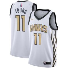 dba0e1135 Trae Young Atlanta Hawks Nike City Edition Swingman Jersey – White