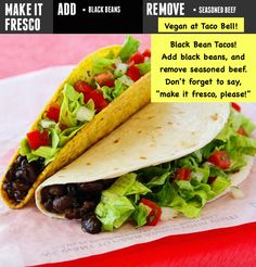 How to eat vegan at Taco Bell! Here's the list!