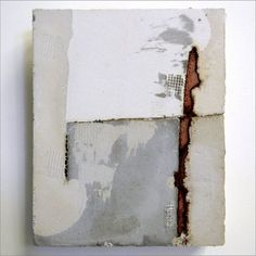 One constant in my world and work, I'm a sucker for any combination of raw texture and alternative materials . . . like this work by another recent discovery, Marlies Hoevers