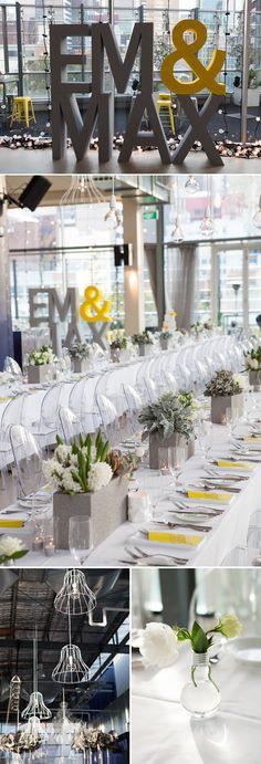 industrial chic wedding decorations | Industrial-chic wedding planned by The Style Co | Wedding Decoration ...