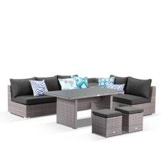 Como 7 Seater Lavash  | outdoor modular lounge setting