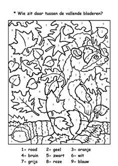 Kleurplaten Volwassenen Herfst.105 Beste Afbeeldingen Van Herfst Kleurplaten