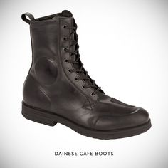 Dainese's Cafe motorcycle boots look like they just popped out of the 1960s. Costing €189 ($250), they made from thick cowhide leather with a rubber sole.