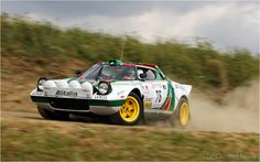 Claus Aulenbacher im Alitalia Lancia Stratos HF beim Eifel Rallye Festival 2013 in Daun. Drift, Querfahren Quer durch die Eifel Christo Mitzieher Slowly Sideways Schotter Best of Rally Mantaloch Shakedown