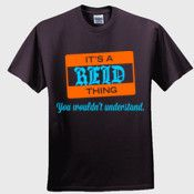 Create your own personalized REID T Shirt using our online designer. No minimum order.