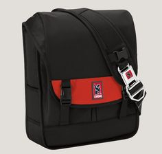 SOMA backpack by Chrome. Holds a lot of stuff. The buckle is a seatbelt!