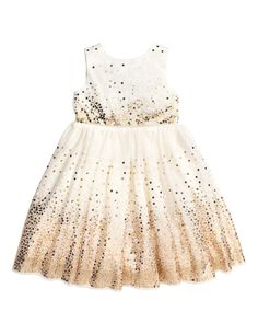 Check this out! Dress in sequined tulle. Concealed snap fasteners at back, seam at waist, and a flared, tulle-lined skirt. Fully lined in woven fabric with tulle at hem. - Visit hm.com to see more.