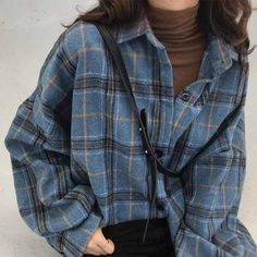 Retro Outfits, Vintage Outfits, Cute Casual Outfits, Cute Flannel Outfits, Winter Outfits, Plaid Shirt Outfits, Oversized Flannel Outfits, Flannel Fashion, Plaid Shirts
