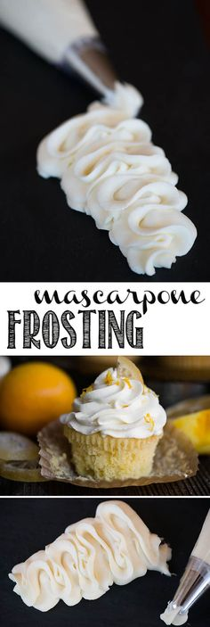Mascarpone Frosting is simply the very best tasting, easy to make, and perfectly sweet frosting. Just a few simple ingredients whipped together create a lusciously smooth creamy frosting that is so easy to work with. It is stable and holds its shape at room temperature and remains soft when refrigerated. #mascarpone #frosting #mascarponefrosting