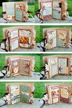 Paper bag album idea made by Jaque Miller. The idea with this curation is to show a new idea for an album. Paper Bag Books, Paper Bag Crafts, Paper Bag Album, Scrapbook Paper Crafts, Paper Bags, Diy Paper, Mini Albums, Mini Scrapbook Albums, Scrapbook Cards