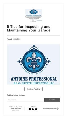 5 Tips for Inspecting and Maintaining Your Garage
