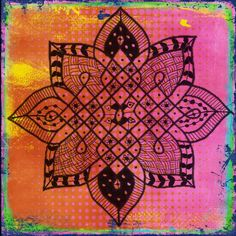 Using #mandala in art journaling -by @Julie Shahin