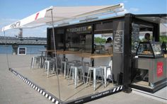 Pop-Up container coffee bar | Container restaurant | Shipping container homes | Container house | Element Space Inc
