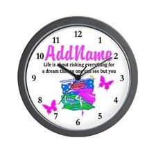 LIVE TO DANCE Wall Clock Beautiful personalized Dancer and Ballerina gifts for Birthdays, Holidays or any occasion.   http://www.cafepress.com/sportsstar/10423569 #Dancer #Dancergifts #Ballet #Ballerina  #Personalizeddancer